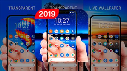 Прозрачный экран и живые обои